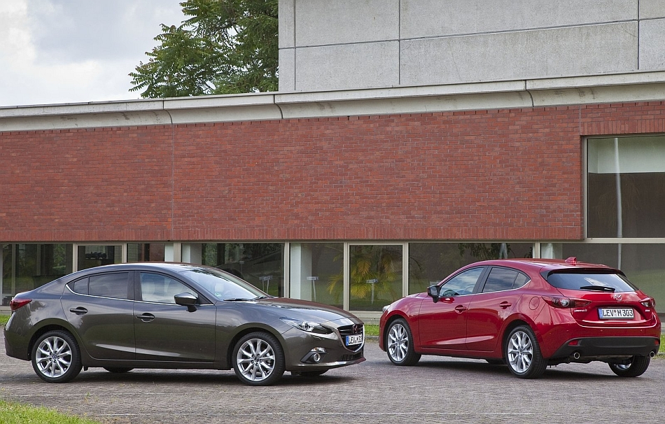 2014 Mazda3 Sedan with Hatchback