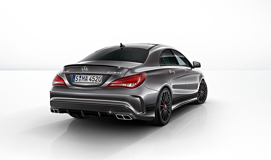 2014 mercedes benz cla 45 amg edition 1 rear 3 4 right egmcartech. Black Bedroom Furniture Sets. Home Design Ideas