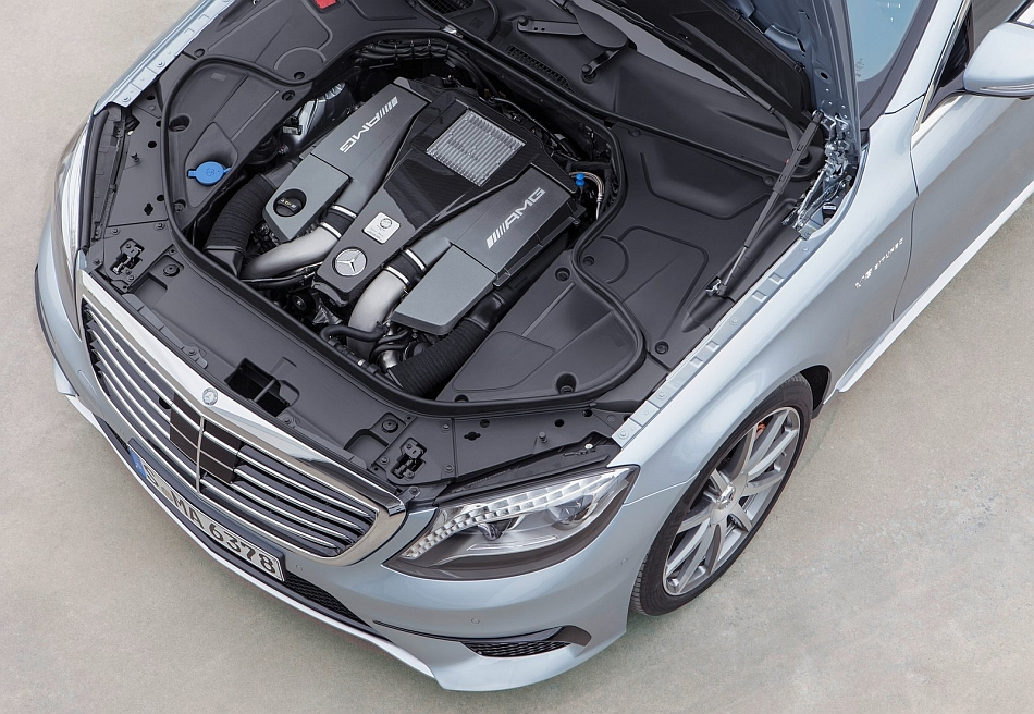 2014 Mercedes-Benz S63 AMG 4MATIC Engine