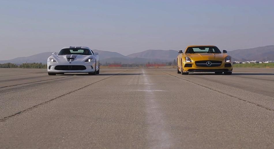 MotorTrend 2013 SRT Viper vs 2014 Mercedes-Benz SLS AMG Black Series