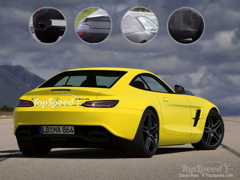 TopSpeed Mercedes-Benz SLC Rendering Rear