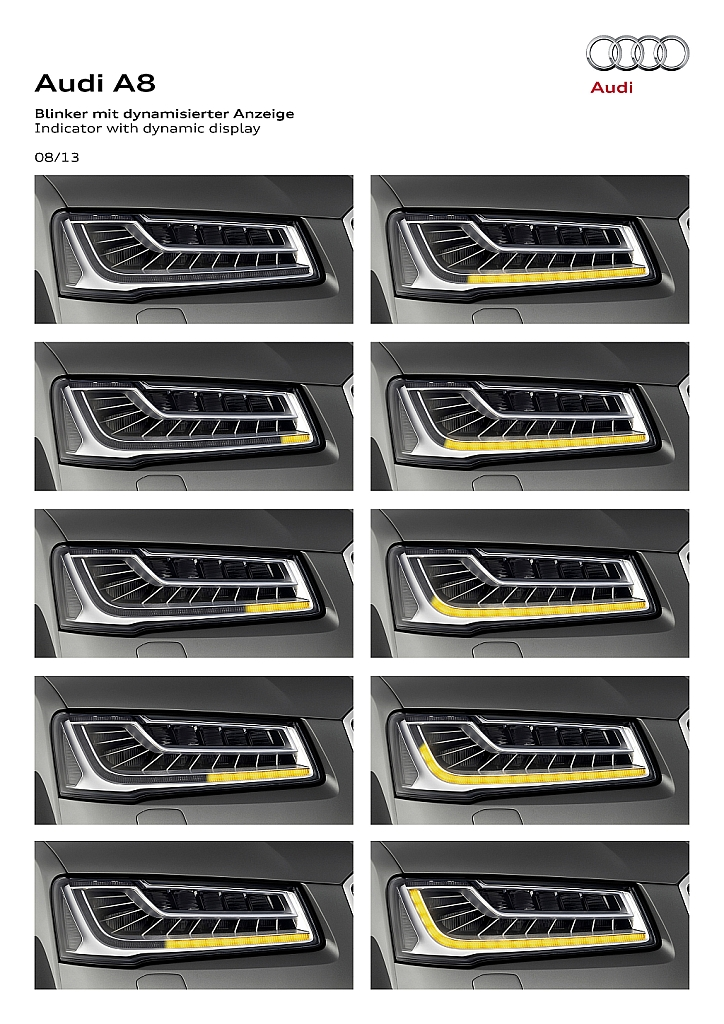 2014 Audi Matrix Led Headlight Teaser A8 Diagram