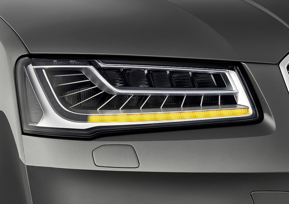 2014 Audi Matrix LED Headlight Teaser A8