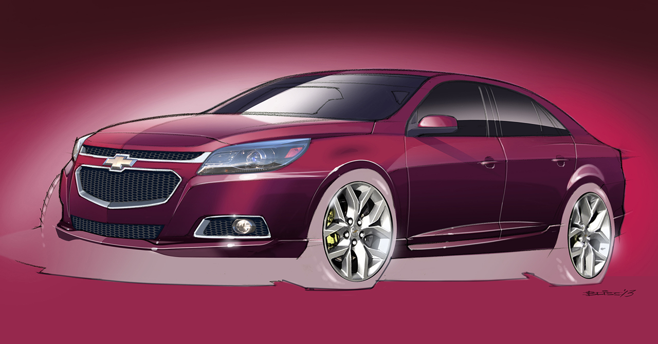 2013 chevrolet malibu ltz sema concept egmcartech. Black Bedroom Furniture Sets. Home Design Ideas