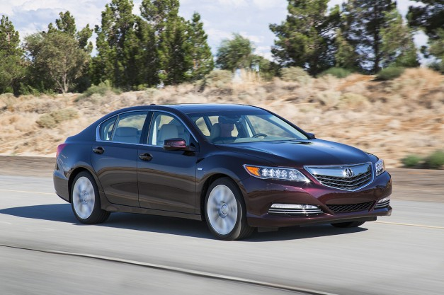 The 2016 Acura RLX Sport Hybrid was updated with some minor changes