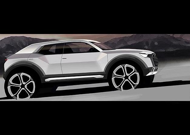 Audi Q1 Teaser Rendering