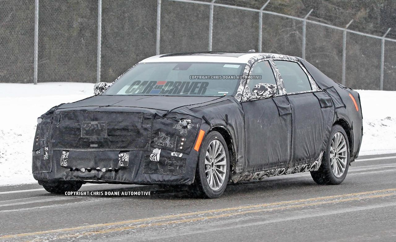 spy shots cadillac 39 s new full size luxury sedan spotted more info arises egmcartech. Black Bedroom Furniture Sets. Home Design Ideas