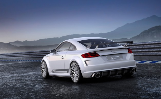Audi TT Quattro Sport Concept with a 2 liter 420 bhp four and a sub 4-second 0-60 time debuts at Geneva