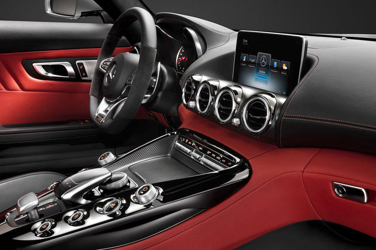 2015 mercedes benz amg gt interior teasers 1 egmcartech for Inside mercedes benz