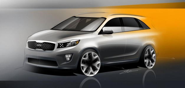 Photo Renderings: Sketches for the 2016 Kia Sorento leaked