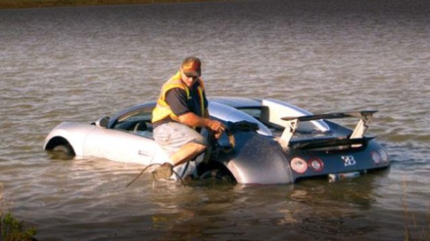 Report: Man who purposely crashed Bugatti Veyron in lake faces 20 years in prison