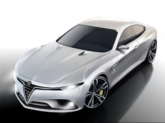 Report: Alfa Romeo's new Giulia sedan could get a potent 300hp twin-turbo four