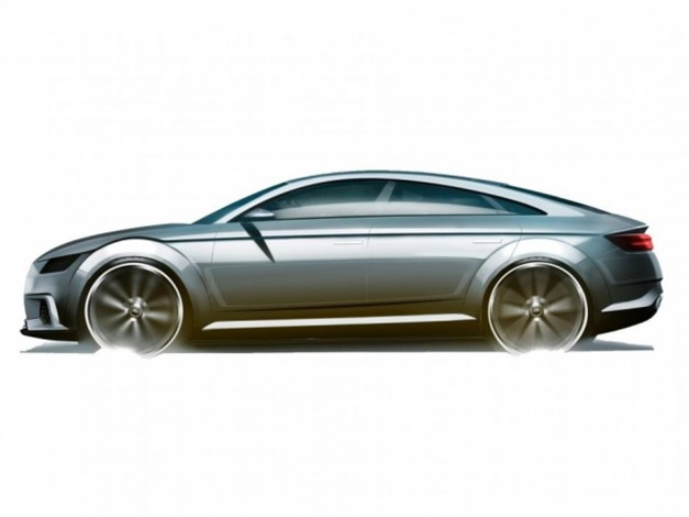 Photo Rendering: This sketch hints at a possible Audi TT four-door coupe