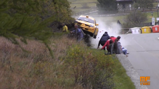 Video: Watch these rally spectators avoid near and certain death