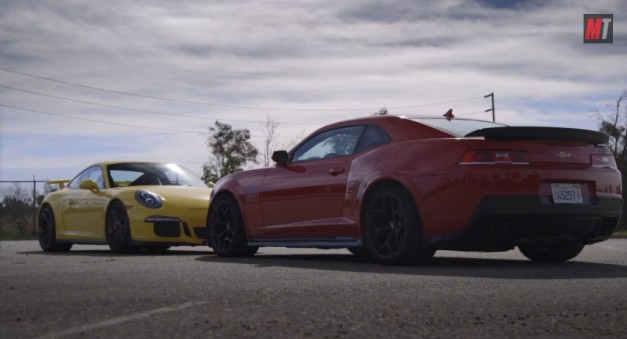 Video motortrend pegs the latest chevy camaro z 28 Motor trend head 2 head