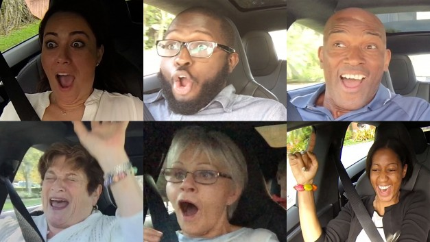 Video: Watch people's reactions to the Tesla Model S P85D's brutal acceleration