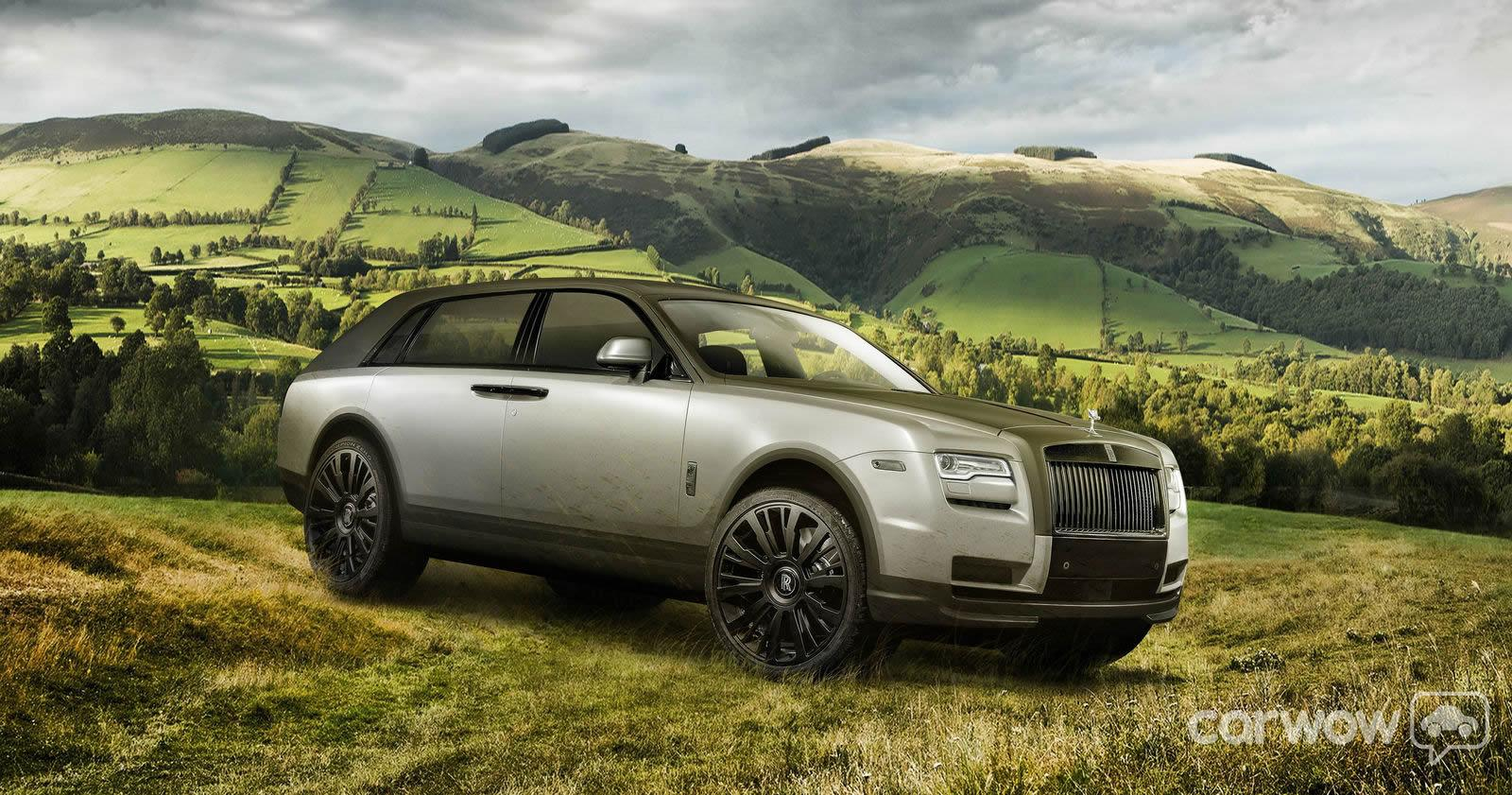 2015 rolls royce suv crossover rendering by carwow uk 3 egmcartech. Black Bedroom Furniture Sets. Home Design Ideas