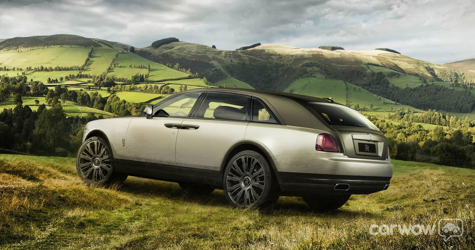 2015 rolls royce suv crossover rendering by carwow uk egmcartech. Black Bedroom Furniture Sets. Home Design Ideas