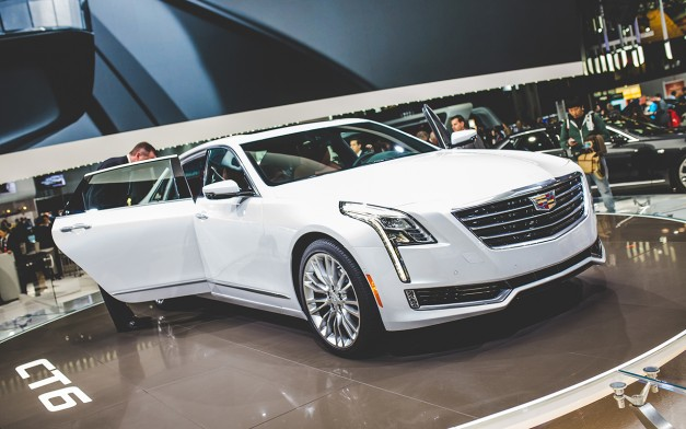 2015 New York: The Cadillac CT6 shows off on the floor of the Javits