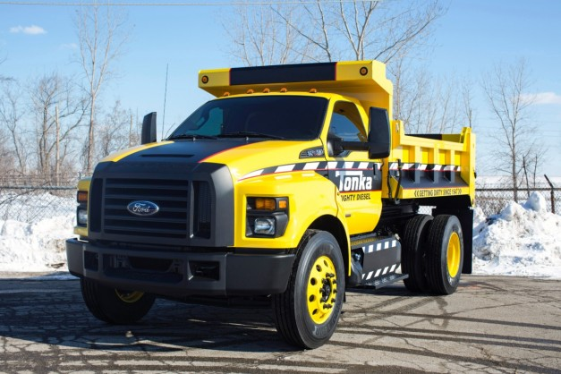 Ford makes a real-life Tonka Dump Truck from their new F-750