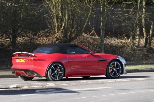 Spy Shots: The top-spec Jaguar F-Type SVR test mule spotted