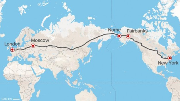 Report: Russia proposes to build world's longest intercontinental highway between London and NYC