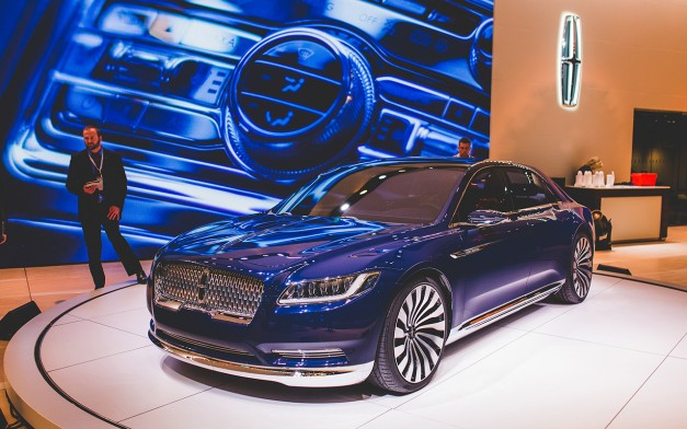 2015 New York: The Lincoln Continental Concept shows off its sleek profile at the Javits