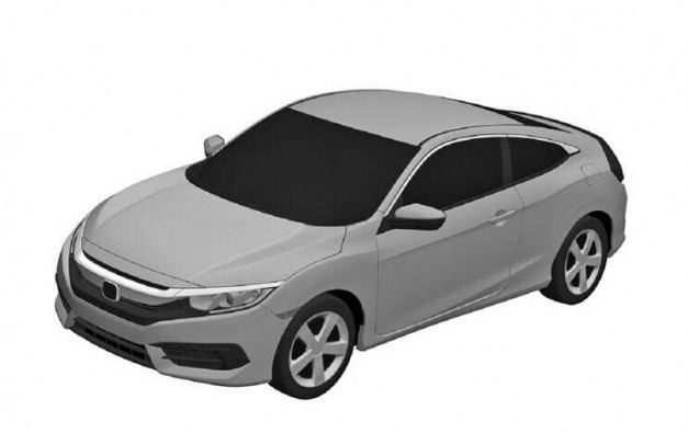Photo Rendering: Patents offer look at final Civic sedan and coupe