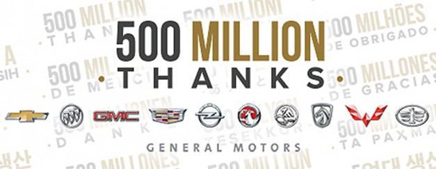 GM built their 500 millionth vehicle recently–that's a lotta fricken cars