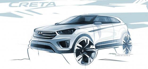 Hyundai reveals the design of new Creta subcompact crossover
