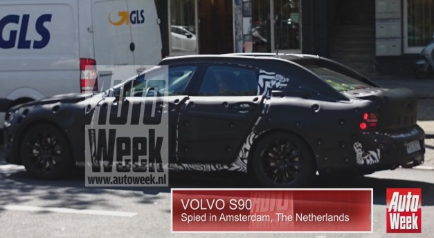 Video: Volvo's new S80 replacement spied for first time, to be called S90