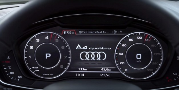Digital Car Gauges Cluster : Video watch how audi s new digital gauge cluster works in