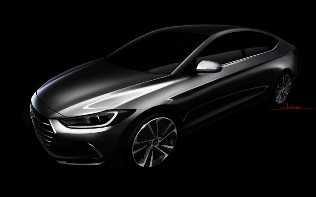 Photo Rendering: This new sketch previews the next Hyundai Elantra, and it looks great