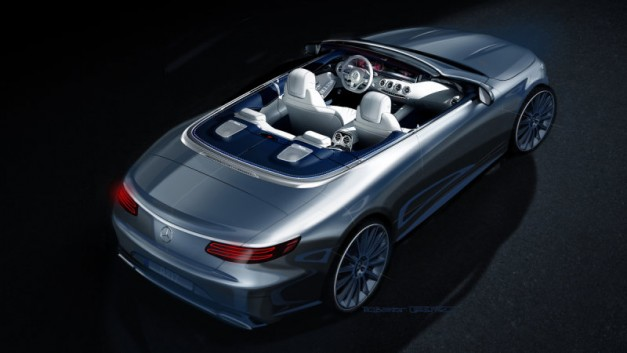 Photo Rendering: Mercedes-Benz previews new S-Class Convertible in digital renderings