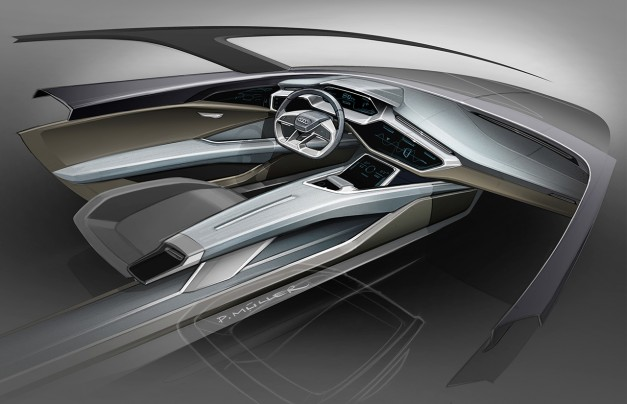 Audi etron quattro concept – Cockpit Sketch  egmCarTech