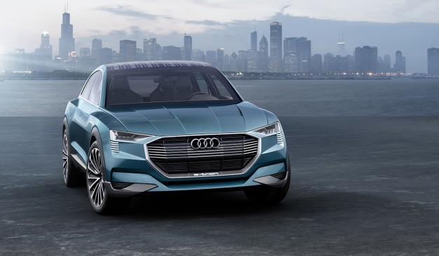 2015 Frankfurt – IAA: The Audi E-Tron Quattro concept is a pitch at the Tesla Model X