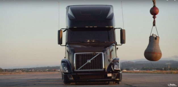 Video: Watch a Volvo truck get wrecked by a wrecking ball, then given a new life