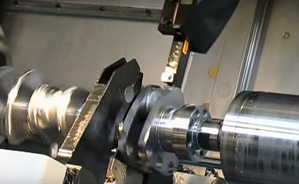 Video: Watching a crankshaft get machined out of a solid block of metal is absolutely mesmerizing