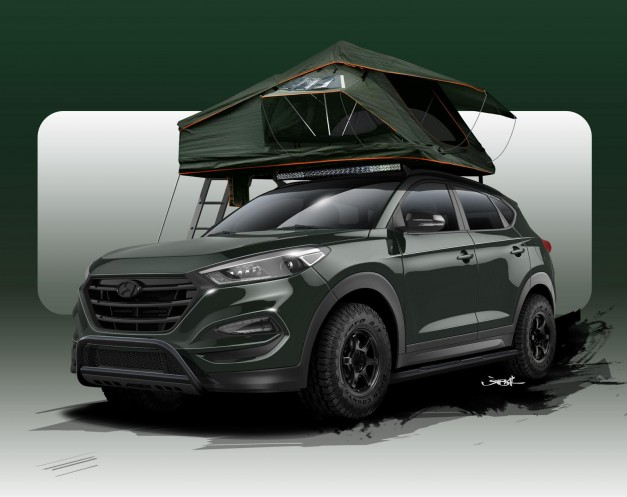 2015 SEMA Preview: Hyundai teases new outdoorsy Tucson Adventuremobile