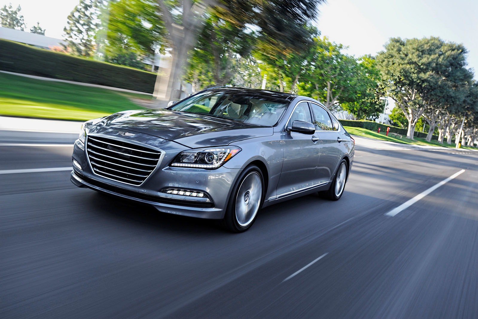 luxury size a full prince review rwd hyundai among side genesis test sedan drive