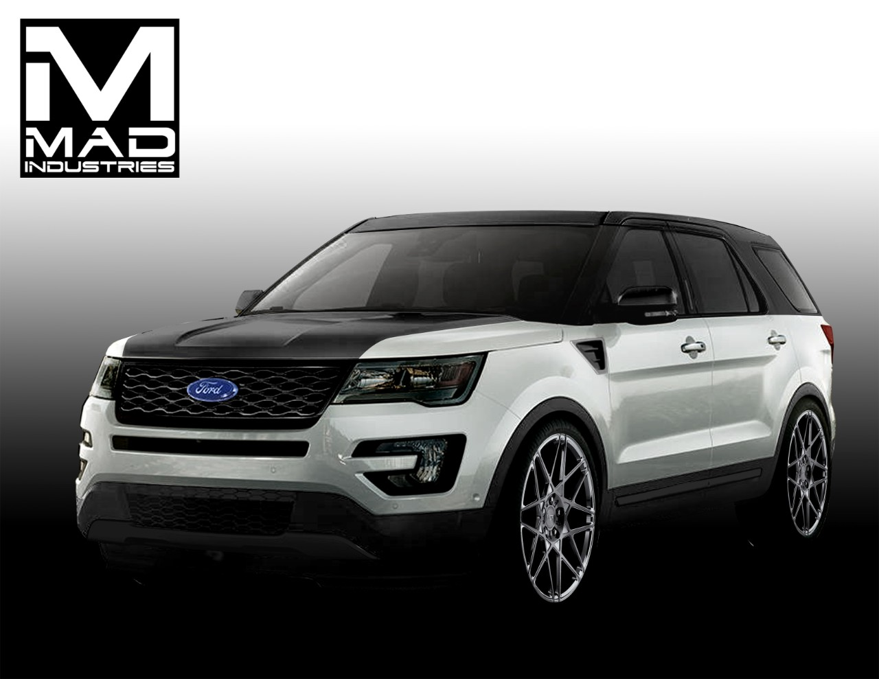 mad industries ford explorer sport concept 2015 sema - New 2015 Ford Explorer Black Color