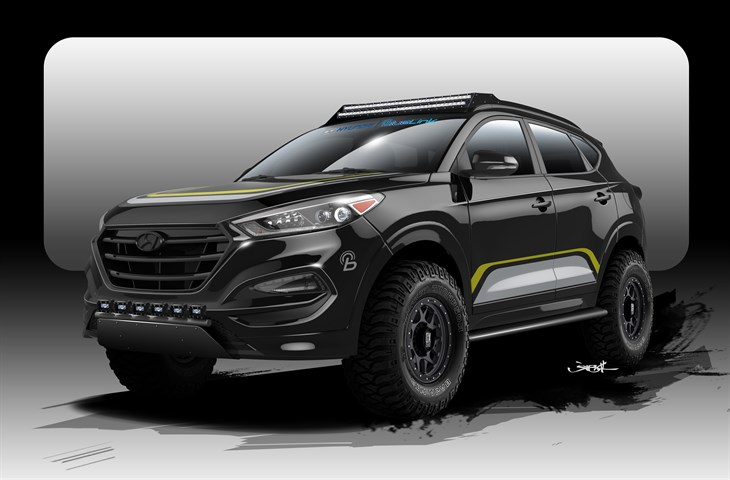 Rockstar Performance Garage 2016 Hyundai Tucson Concept - 2015 SEMA