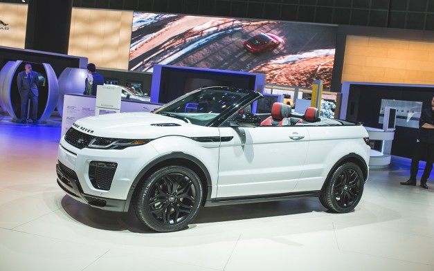 2015 Los Angeles: The Range Rover Evoque Convertible tries to pickup where the Nissan Murano CrossCabriolet left off