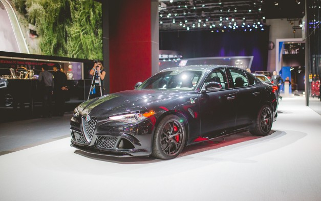 2015 Los Angeles: The 2017 Alfa Romeo Giulia arrives to make decisions harder in its segment