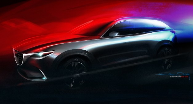Mazda teases new CX-9 replacement, to debut at the 2015 Los Angeles Auto Show