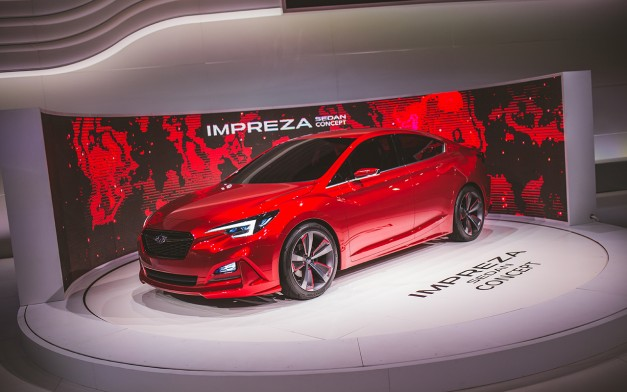 2015 Los Angeles: The Subaru Impreza Sedan Concept previews the next-gen Impreza sedan