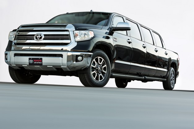 2015 SEMA: The Toyota Tundrasine Concept is an eight-door Tundra limo–because why not