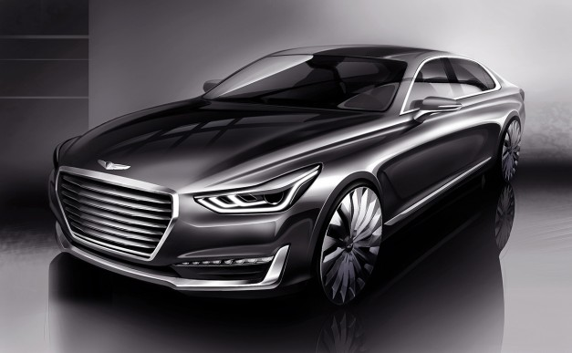 This new teaser for the Genesis G90 previews the next Hyundai Equus–and holy crap!