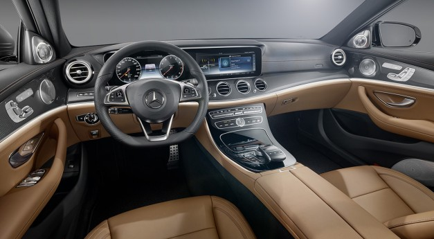 The next-generation Mercedes-Benz E-Class's interior's here for its web debut!