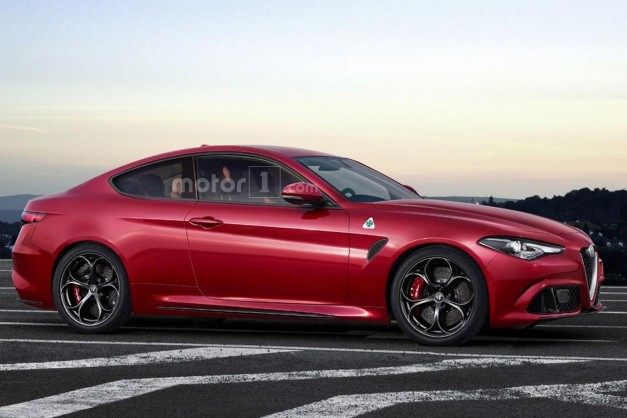 Photo Rendering: This representation of an Alfa Romeo Giulia Coupe is something that needs to happen